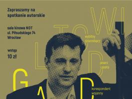 Plakat informujący o spotkaniu autorskim z Witoldem Gadowskim