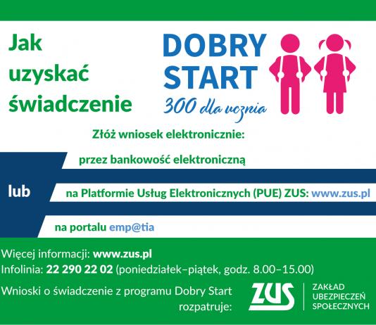 """Plakat promujący """"Dobry Start"""""""