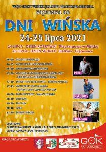 Plakat promujący Dni Wińska 2021