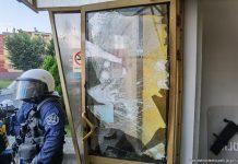 Mat. Policji. Wydarzenia w Lubinie z 8 sierpnia 2021
