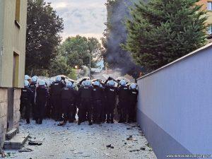 Mat. Policji. Wydarzenia w Lubinie z 8 sierpnia 2021.