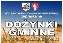 Plakat dożynek Gminy Wińsko